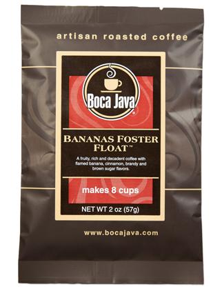 Bananas Foster Float 2oz sample size medium roast direct trade nicaraguan coffee