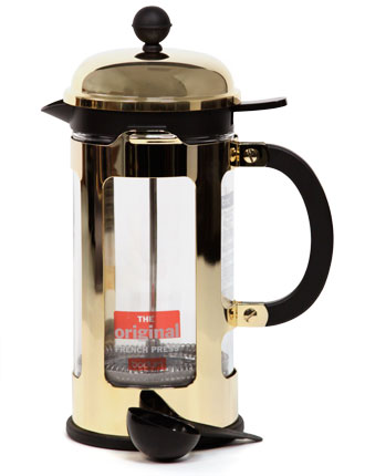 Gold French Press Coffee Maker : Bodum Gold Press - 8 Cup