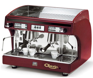 Astoria SAE 2 Automatic Perla Espresso Machine, Burgundy