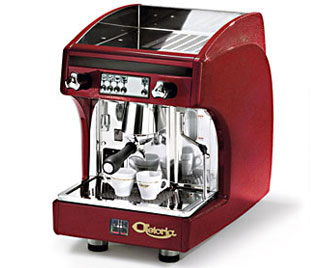 Astoria SAE/JUN Automatic Perla Espresso Machine, Burgundy