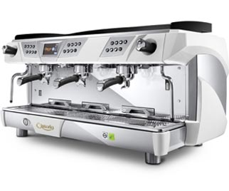 astoria plus 4 you 3 gr commercial automatic espresso machine chrome white ebay. Black Bedroom Furniture Sets. Home Design Ideas