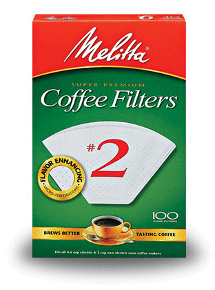 Melitta #2 White Cone Filters