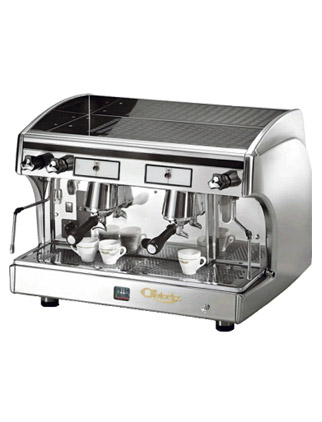 Astoria SAE/AEP 2 Semi Automatic Perla Espresso Machine, Silver/Inox