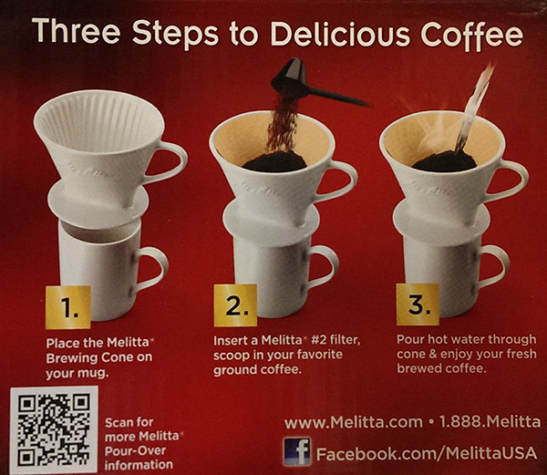 Melitta Pour Over Coffee Maker Porcelain : Melitta - #2 Porcelain Cone Pour-Over Coffee Maker - Best Way To Brew! eBay