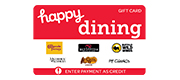 Happy Dining Cards 5% Bonus Rebate
